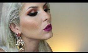 Make Neutra com Emoção com Glitter Coralina por Claudia Guillen