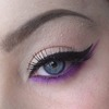 Winged liner with a pop of colour
