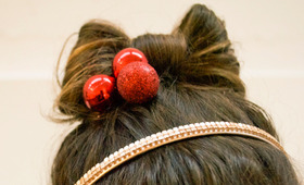 Holiday Hair Bow Tutorial