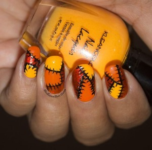 Tutorial here: http://www.bellezzabee.com/2013/10/busy-girl-nails-fall-2013-challenge_28.html