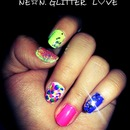 love, glitter.