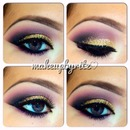 Purple & Gold Glitter