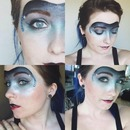 Ice Queen Masquerade Mask makeup