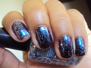 Orly Royal Velvet with NYC Silver Starry glitter