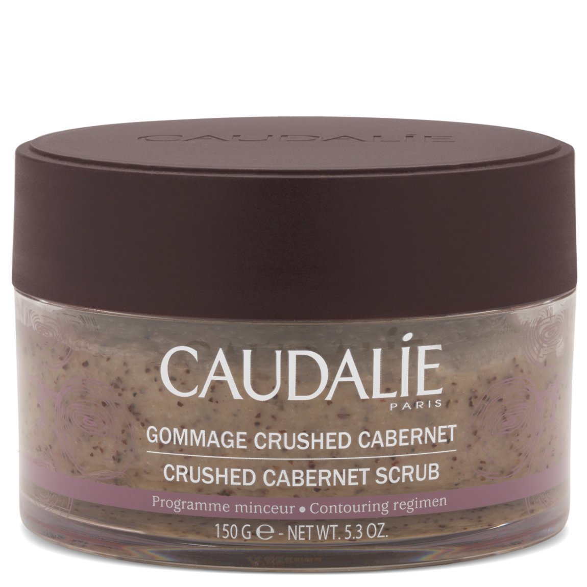 Caudalie Crushed Cabernet Scrub product swatch.