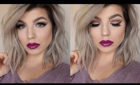Berry Lips & Soft Cut Crease for Hooded Eyes | Full Face Holiday Glam