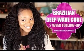 Brazilian Deep Wave 2 Week Update! | Maxglam Hair Aliexpress