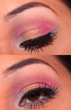 This is recreation of a look I did two years ago using the same exact eyeshadow Palette. I used all the exact shades and tried to do similar placement of them as well.