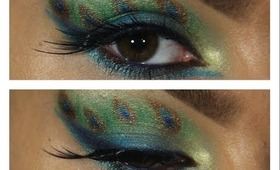 Peacock Inspired Eye Makeup Tutorial ♥
