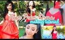 Neon Prom Dress Makeup Tutorial 2015 | naturallybellexo