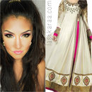 White and Pink Anarkali Dress inspiration