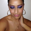 blue and purple glitter eye makeup