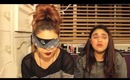 Blind fold make up challenge !