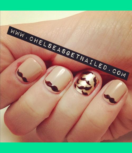 Movember Mustache November Nails Chelsea Ks Chelseasgetnailed