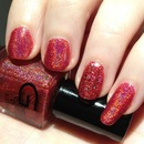 Red Holo nails