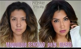 ⏰Maquillaje SENCILLO  y FACIL para DIARIO / Everyday Makeup Tutorial| auroramakeup
