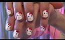 Hello Kitty nails : tutorial