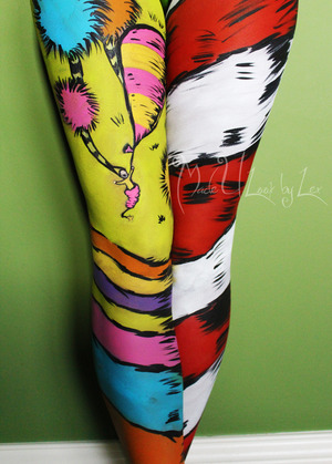 A portion of body painting that I did on my model, Kelli. Alexys Fleming © www.facebook.com/madeulookbylex