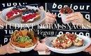 Student Dorm Room Snacks (Vegan/Plant-based) | JessBeautician