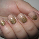 Golden Glitter Gradient