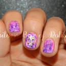 Marbled Skull Nails