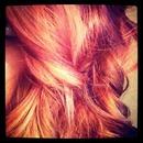 hair purple copper ombré