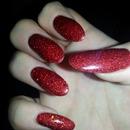 acrylic red glitter