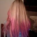 My Pink Ombré Hair! (aka dip dye)