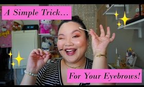 A Quick & Easy Eyebrow Trick = Natural & Defined Brows!!! | Amy Yang