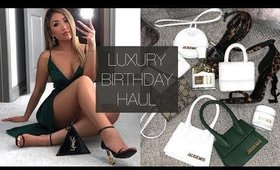 LUXURY BIRTHDAY HAUL | hollyannaeree