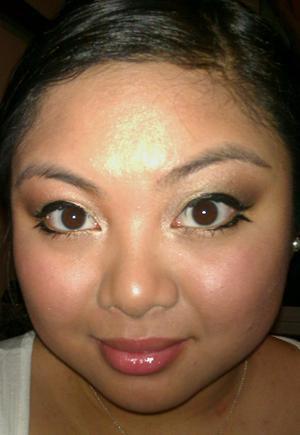 Bottom Winged Eyeliner Look