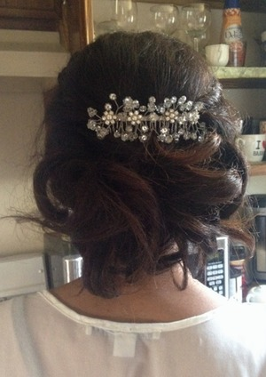 One of my first hair jobs for a Prom! First time working with ethnic hair and I think it turned out beautifully!