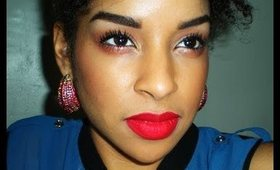 Summer Glossy eyes and a Red Lip