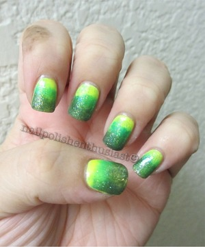 Orly Glowstick, Decoded, China Glaze Four Leaf Clover and Claire's Lemonade