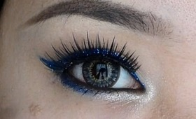 (EASY) Effortless Glitter Eyeliner - New Year/Holiday/Party Makeup