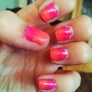 Short ombré nails:)