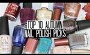 TOP 10 AUTUMN Nail Polish Picks & Trends 2016