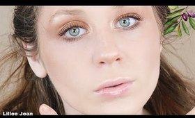 Golden Glowy Goddess LAST MINUTE Halloween Makeup Tutorial | Lillee Jean