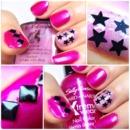Pink Punk Americana Nails! ft F.U.N Lacquer