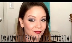 Dramatic Prom Look: Smokey Eye and Dark Lip