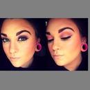 Yellow and Pink eye makeup