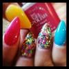 gel nails n glitter acrylics