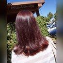 Deep burgundy haircolor 💆