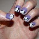 Purple Panda Nails