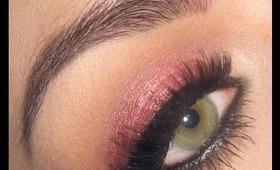 Holiday / Christmas Gold rose makeup tutorial