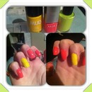 spongebob squarepants themed nails