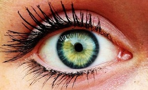 Probably the most beautiful eye I've ever seen. This is my friend Abby's eye(: