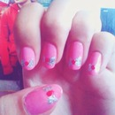 Cute Bows Nails #1;]]