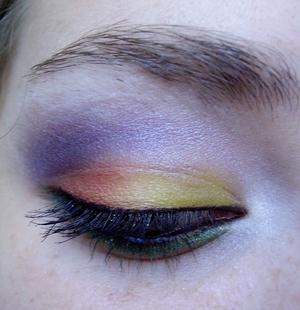 tropical sunset eyeshadow tutorial