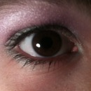 blue and purple eyeshadow! with mascara